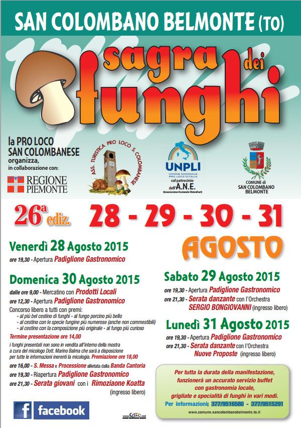 26ª Sagra dei Funghi 2015 – San Colombano Belmonte (TO)